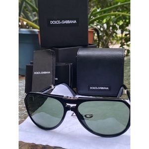 Dolce & Gabbana Men's Aviator Foldable Sunglasses
